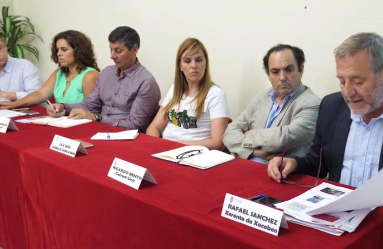 """Participantes no coloquio """"O Camiño Portugués Interior de Santiago de Compostela"""""""